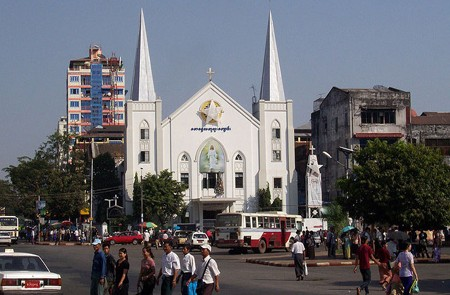 Emmanuel Church - A British colonial building in Myanmar.