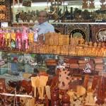 Handicraft shops in Scott Market, Yangon, Myanmar.