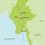 Myanmar Family Adventure Tour – 14 Days map