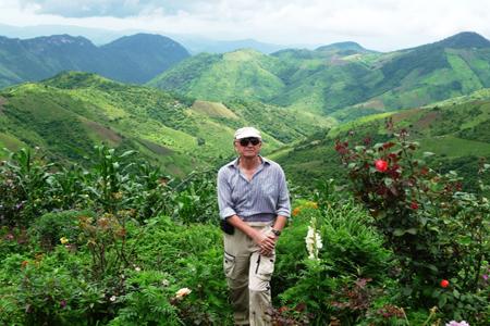 Trekking in Kalaw Shan state.