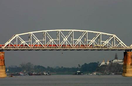 Ava Bridge Over Ayeyarwady Sagaing Myanmar.