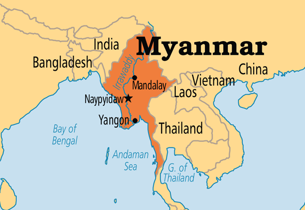 Myanmar Burmar Guides and General Information Myanmar Tours – Myanmar Tourist Map