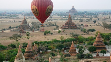 Balloon over Bagan's Ancient Heritage