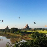 Hot Air Balloon over Myanmar