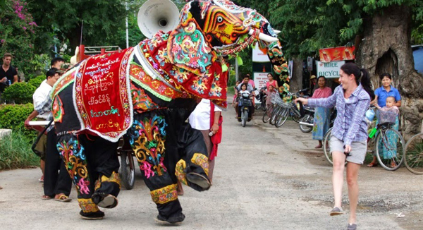 Elephant Dance Festival in Myanmar