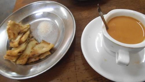 Tea and flatbread