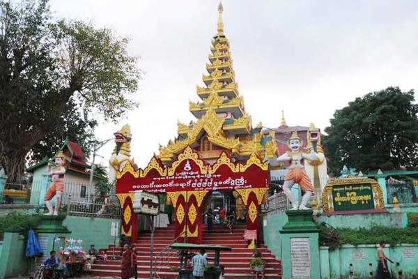 The entrance of Koe Htat Gyi Pagoda