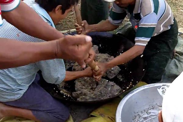 Myanmar Htamane Sticky Rice Festival