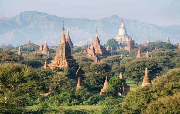 An overlook of Temples of Bagan