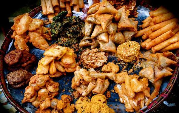 Dried-deep stuffs on the street