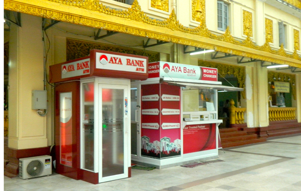 ATMs are available in Myanmar