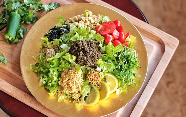 Tea leaf salad so-called Laphet