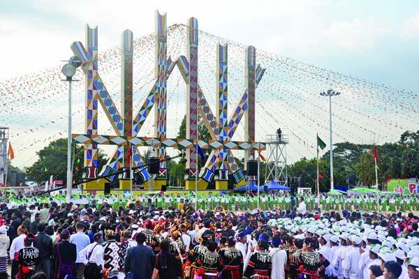 Kachin Manaw Festival in Myanmar