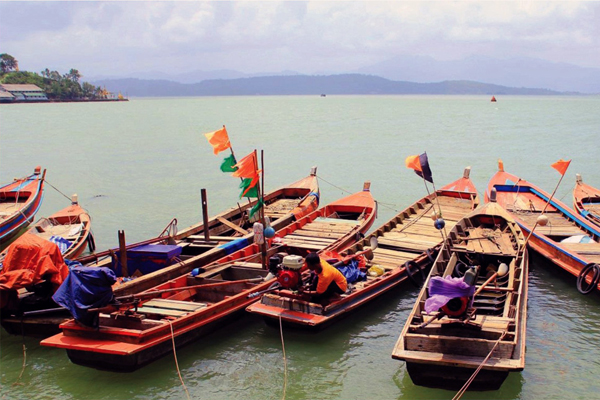 Local boats in Tanintharyi Region
