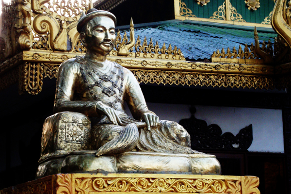 Statue of King Mindon at Mandalay