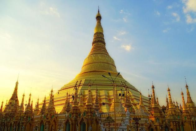 The iconic Shwedagon Pagoda in gold