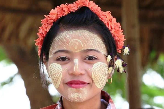 Thanaka protects skin and spread Burmese people's custom