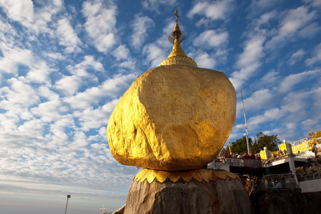 Golden Rock in Kyaiktiyo Pagoda