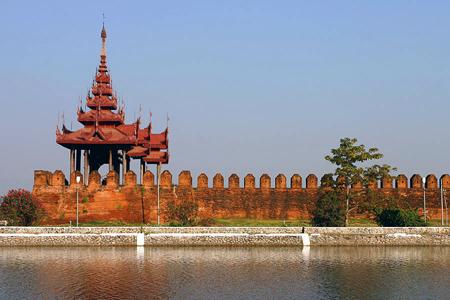 A bastion at Mandalay Palace