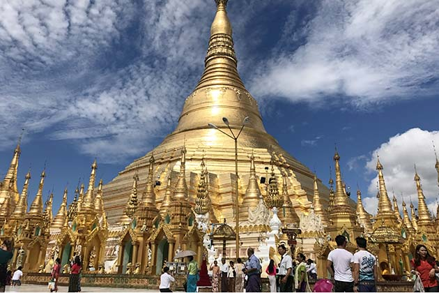 Admire the iconic Shwedagon Pagoda in Yangon half day city tour