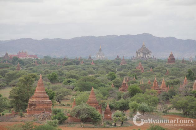 Sun Set in Bagan Temples-Myanmar itinerary 10 days