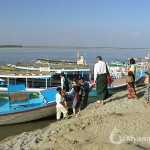 Take the boat trip down stream Irrawaddy River, Bagan