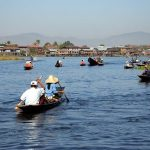 Boating in Inle Lake, Myanmar.