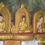 Budda images inside Peik Khyin Myaung Caves