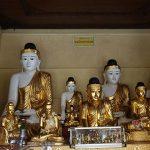 Buddha images in Shwedagon Pagoda