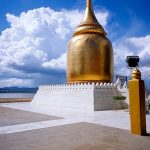 Bupaya Pagoda on the bank of Irrawaddy river