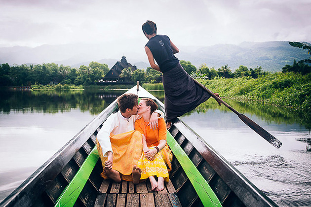 Burma honeymoon tour with a boat trip arond Inle Lake
