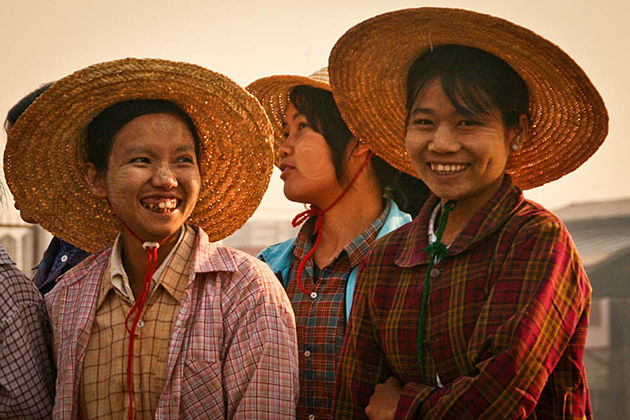 Burmese people are always friendly and ready with a warm smile to welcome a foreign person