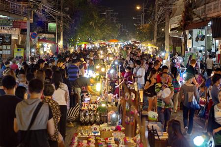 Chiang Mai Night Bazaar, Chiang Mai, Thailand.