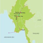 Cruise Irrawaddy River – 8 Days map