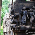 Appreciate the exquisite wood carving in Yoke Sone Monastery