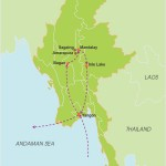 Fabulous Holiday in Myanmar – 12 Days map