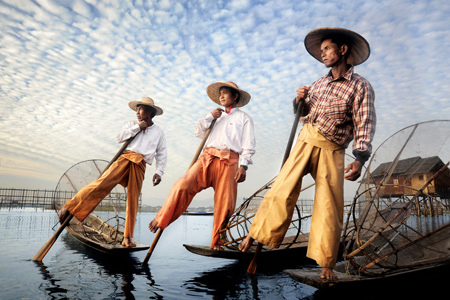 Fishermen in Inle Lake