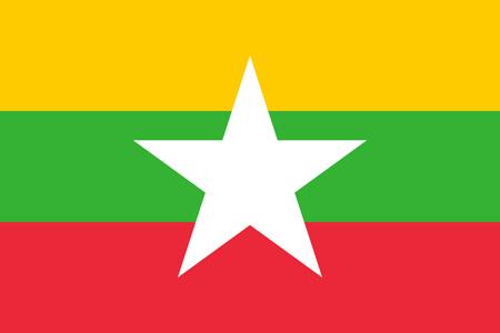 National Flag of Myanmar.