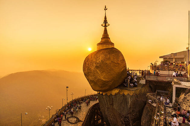 Golden Rock is one of the most important religious sites in myanmar