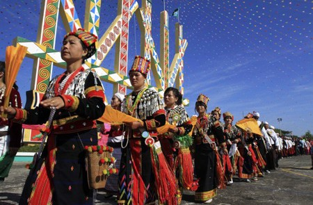 The Kachin in a traditional festival