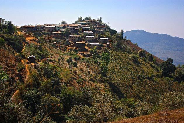 Kalaw hill tribe village in Myanmar