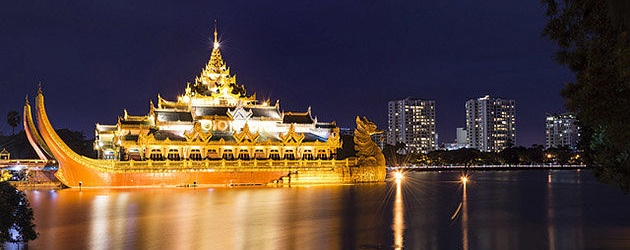 Karaweik Hall attraction for myanmar luxury tour package