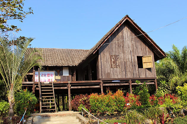 Kayin Traditional House in National Races Village