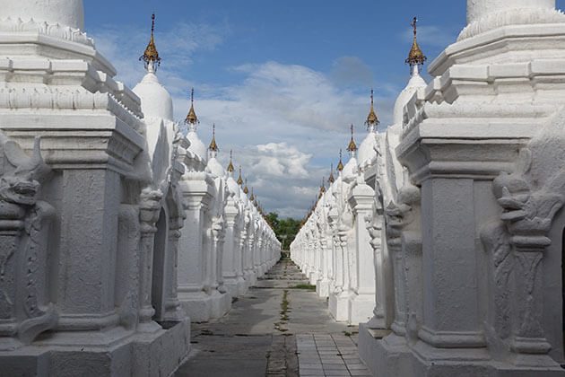 Kuthodaw pagoda - one of the famous places in mandalay