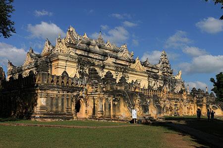 Maha Aung Mye Bon Zan Monastery-a stunning attraction Inwa