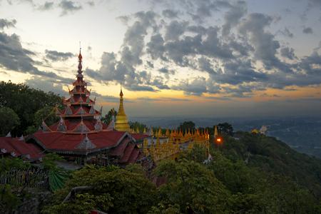 Panorama of Mandalay Hill