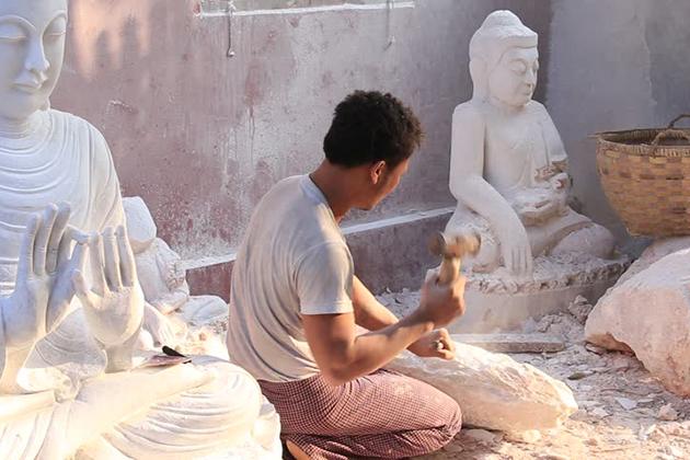 Marble carving Myanmar
