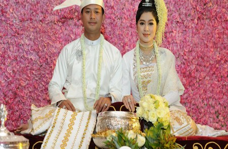 Marriage ceremony in Myanmar.