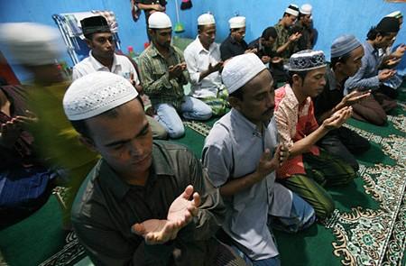 The Muslims in Myanmar.