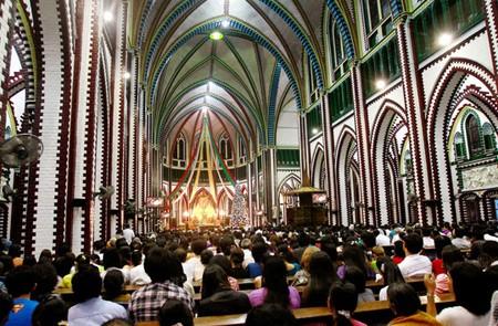 Christmas at-Cathedral in Yangonok, Myanmar.